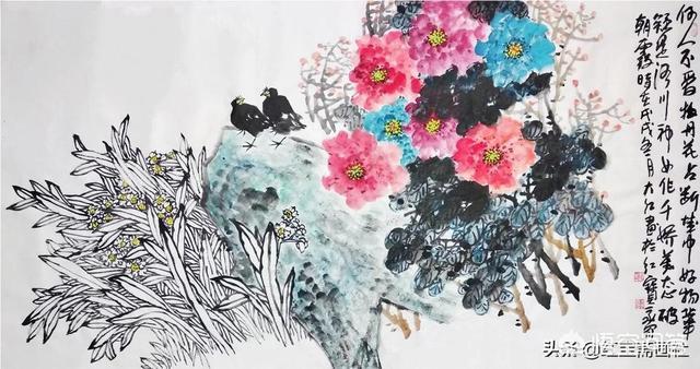 怎样形容蓝天下的红花红花图片?